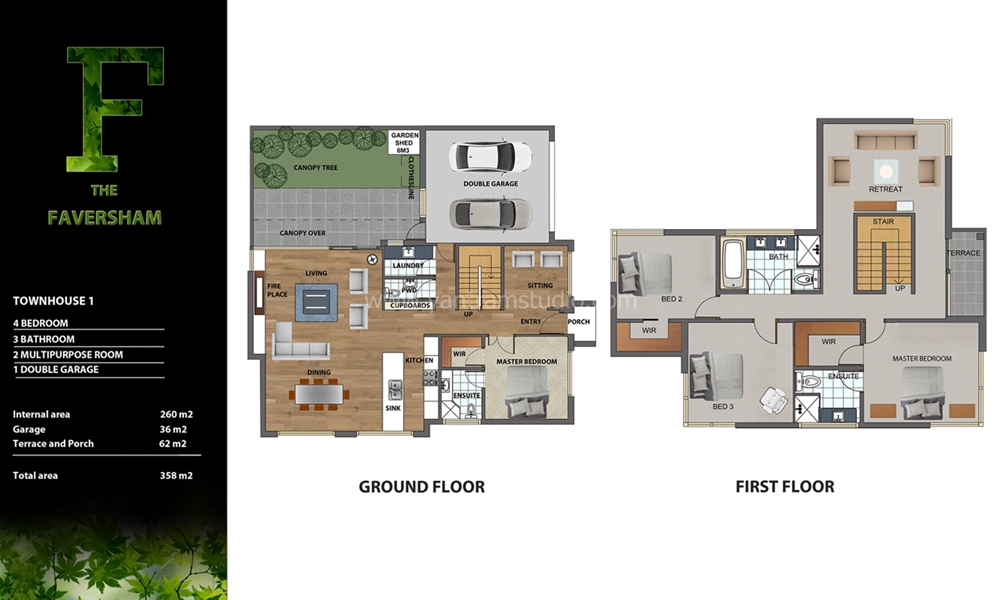 Architectural floor plan sample