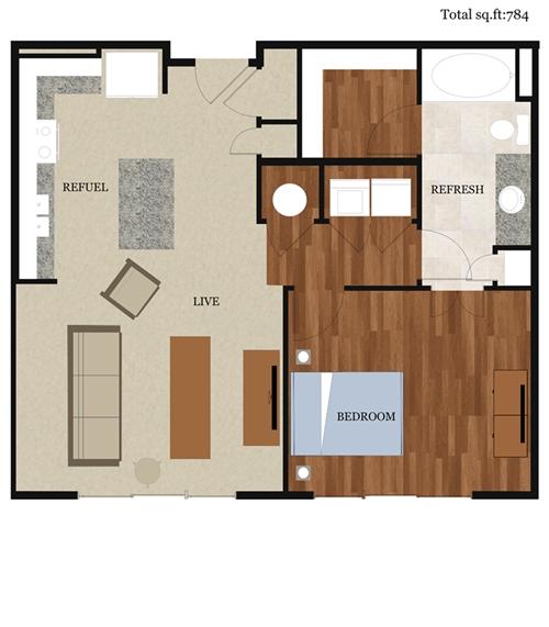 2D Floor Plan with Furuniture Landscaping desing by Yantram studio – House Model With Floor Plan