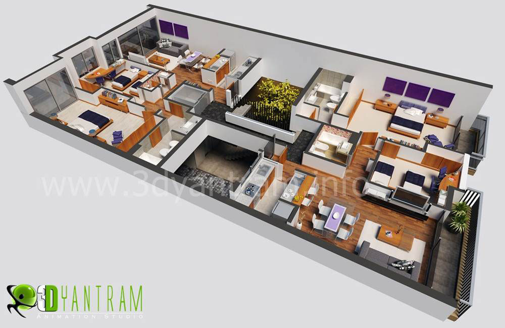 3d floor plan design interactive 3d floor plan yantram Home design 3d