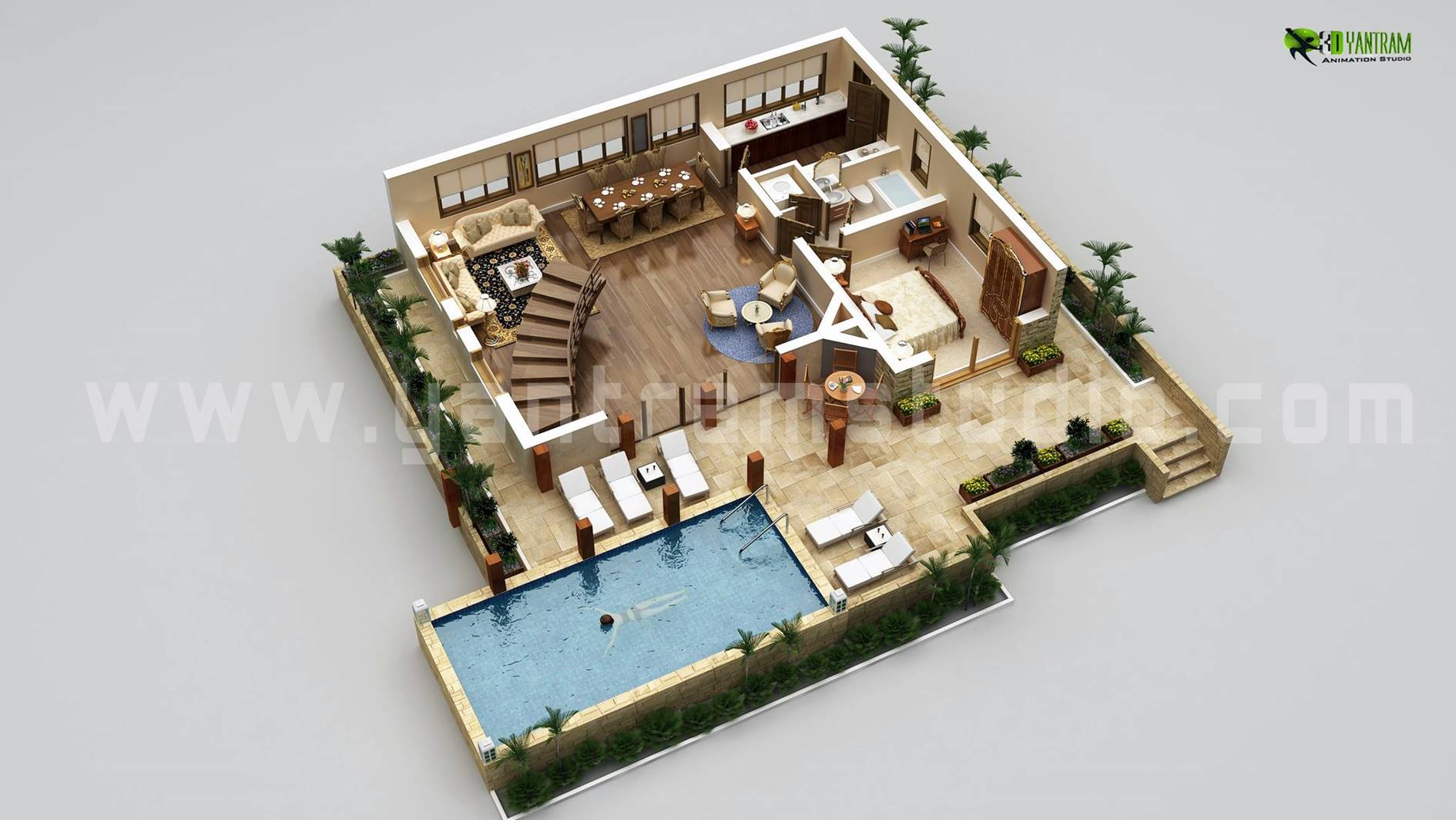 3d floor plan design interactive 3d floor plan yantram Home plan 3d