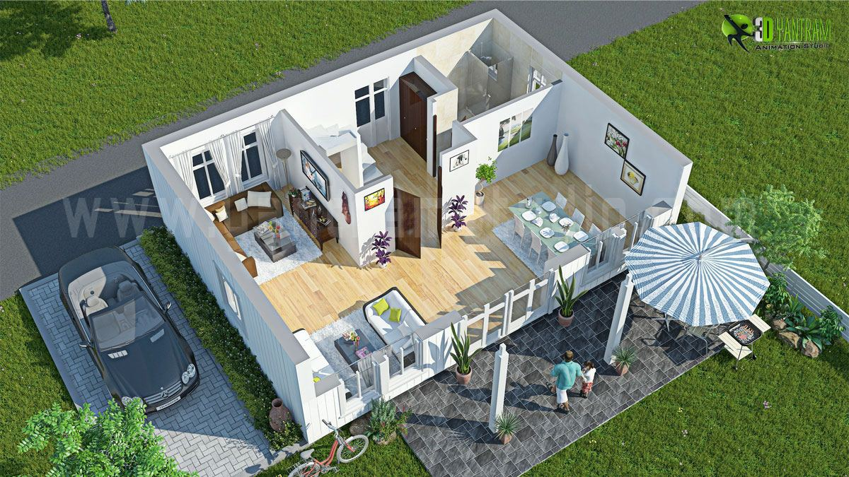 3d floor plan design interactive 3d floor plan yantram Three d house plans
