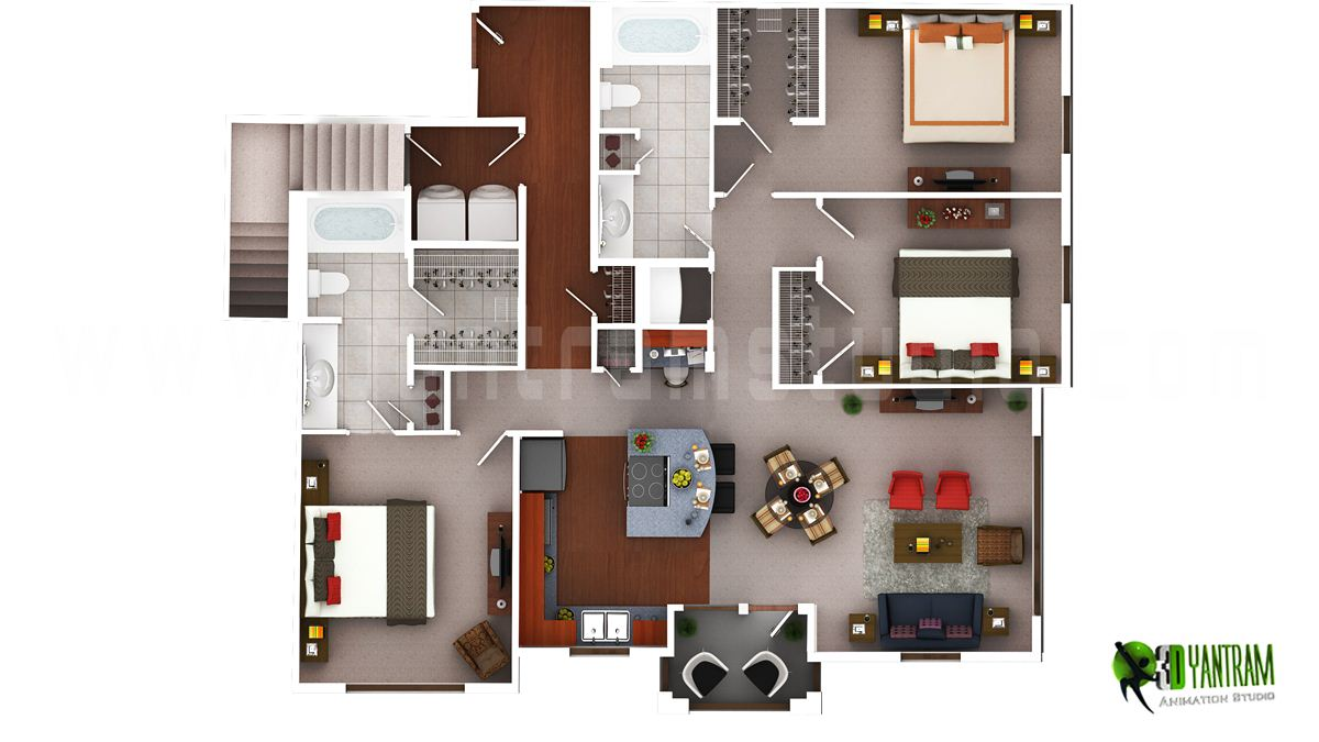 3d floor plan design interactive 3d floor plan yantram studio Floor plan designer