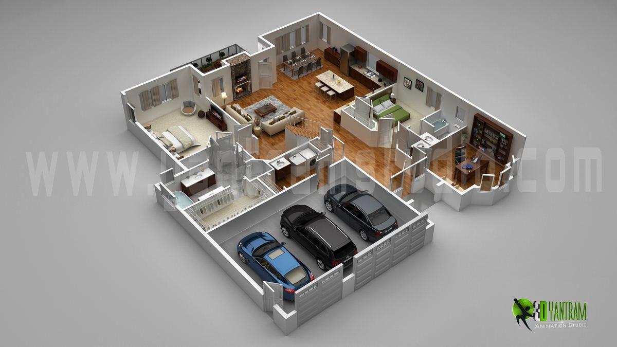3d Floor Plan Design Yantram Studio 3d Architectural