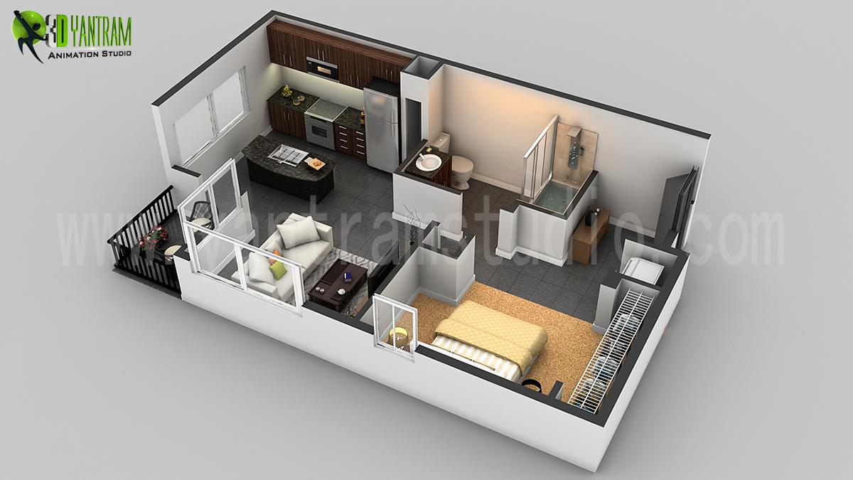 Groovy 3D Floor Plan Design Interactive 3D Floor Plan Yantram Studio Largest Home Design Picture Inspirations Pitcheantrous