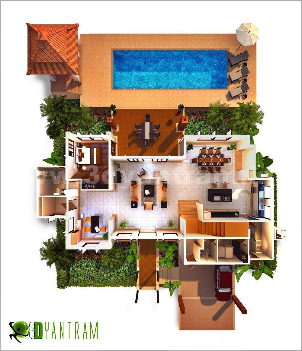 3D Floor Plan Design, Interactive 3D Floor Plan | Yantram ...