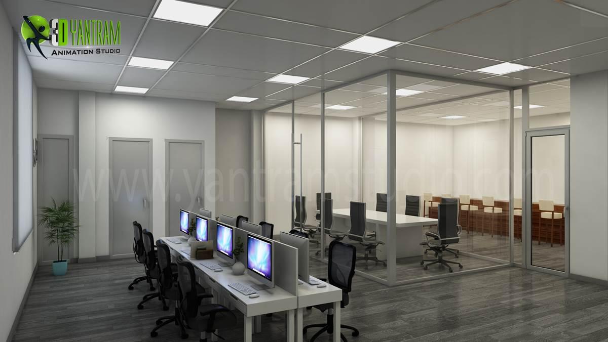 3d interior rendering cgi design yantram studio 3d for Office design 3d max