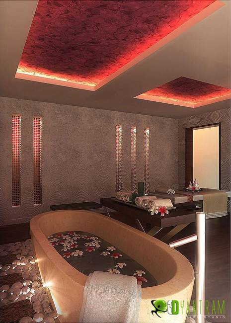 Commercial 3D Interior Rendering Spa