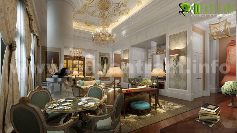 Interior 3d rendering photorealistic cgi design firms by for Royal interior living room