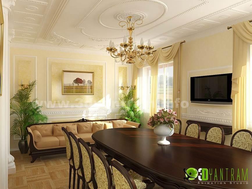 Residential 3D Interior Design Dining Room