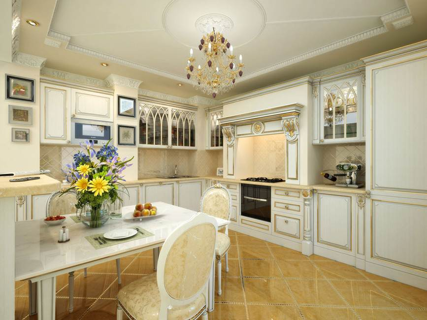 Residential 3D Interior Design Kitchen