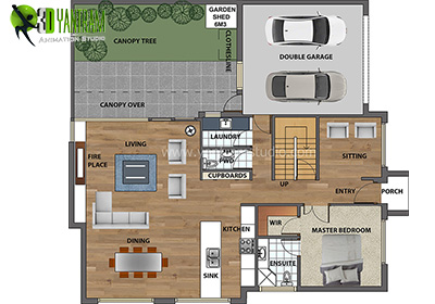 2d floor plan yantram studio 3d architectural animation virtual reality and augmented. Black Bedroom Furniture Sets. Home Design Ideas