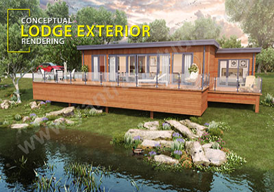 Modern Lodge Exterior Rendering Ideas