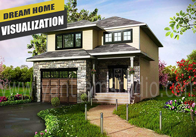 3d Exterior Design For Small House