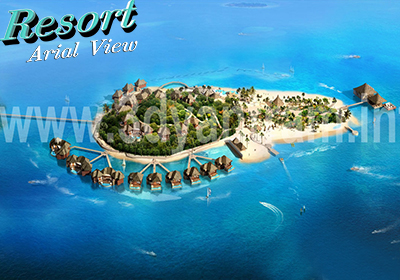 3D Exterior Design for Resort