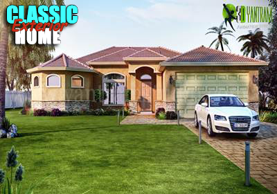 Get 3d architectural exterior rendering modeling and cgi for Classic home designs sydney