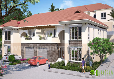 Residential Home 3D Exterior Animation