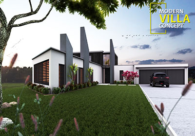 Beautiful Modern Exterior Rendering design by Yantram architectural design studio – London, UK