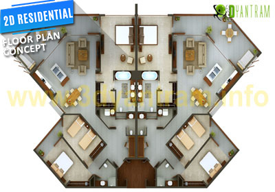 2D Floor Plan Design