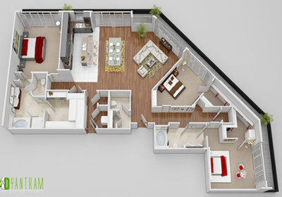 3D CGI Design Floor Plan