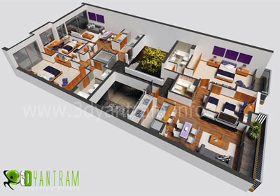 3D Virtual Floor Plan for Capetown