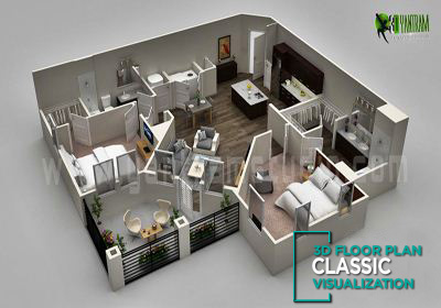 3d floor plan visualization, Vietnam