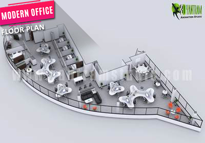 Modern office Floor Plan