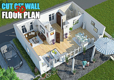 cut off wall Floor Plan