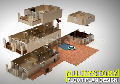 multistory 3d Floor Plan
