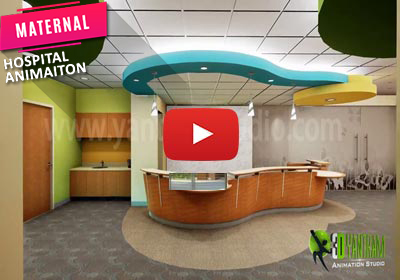 3D Interior Walk-Through Animation for Maternal hospital