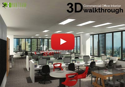 3D Interior Walkthrough of Commercial Office