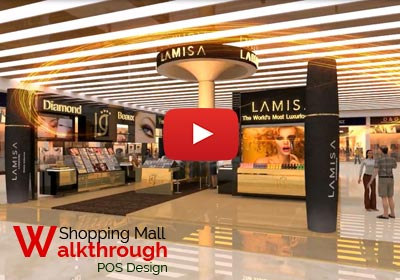 walkthrough for shopping mall Interior design