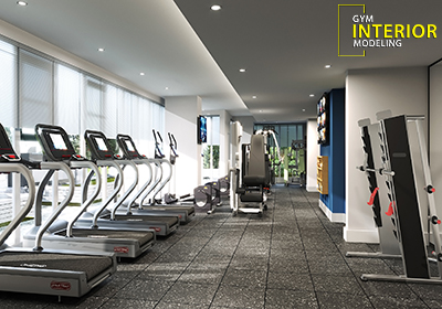 Interior Design of Apartment with Gym