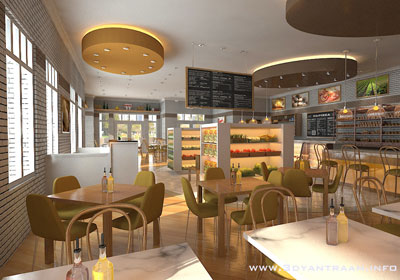 3d Interior cgi design for Food Court