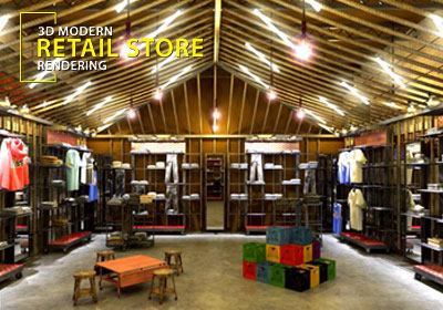 3D store - Shop interior design