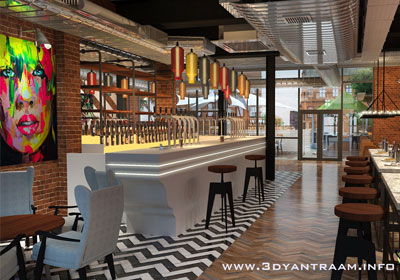 Interior design for Restaurant bar