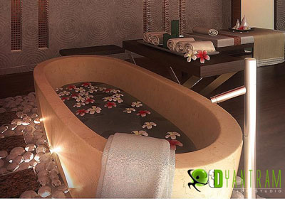 3D Spa Interior Design