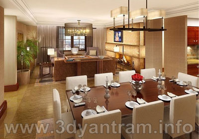 Interior CGI for Dining Room