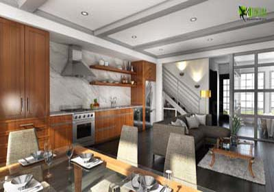 3D Interior CGI Design for Commercial Bar