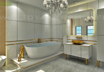 3d Classic bathroom Interior design