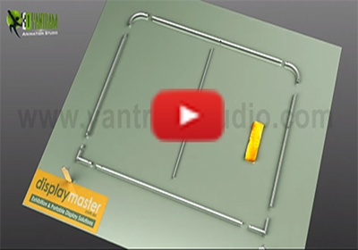 3D portable displays promotion animation video