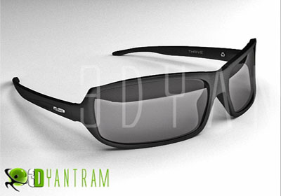 3D Sun Glass Product Modeling