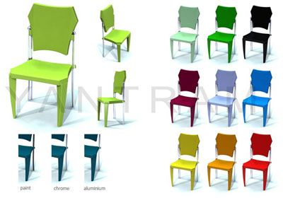 3D Chair Modeling Animation