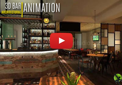 3D Interior Walkthrough For Bar And Pub