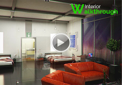 interior walkthrough For Studio Appartment